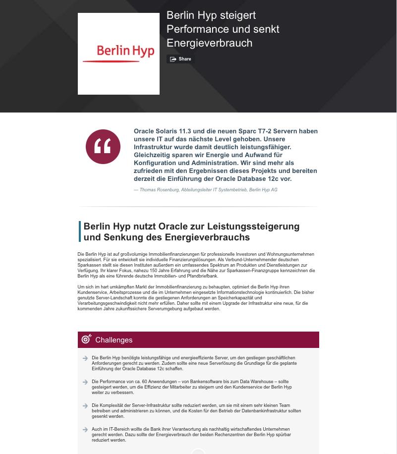 Berlin Hyp Referenz bei Oracle