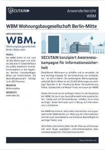 Konzeption einer Awareness-Kampagne für die WBM.