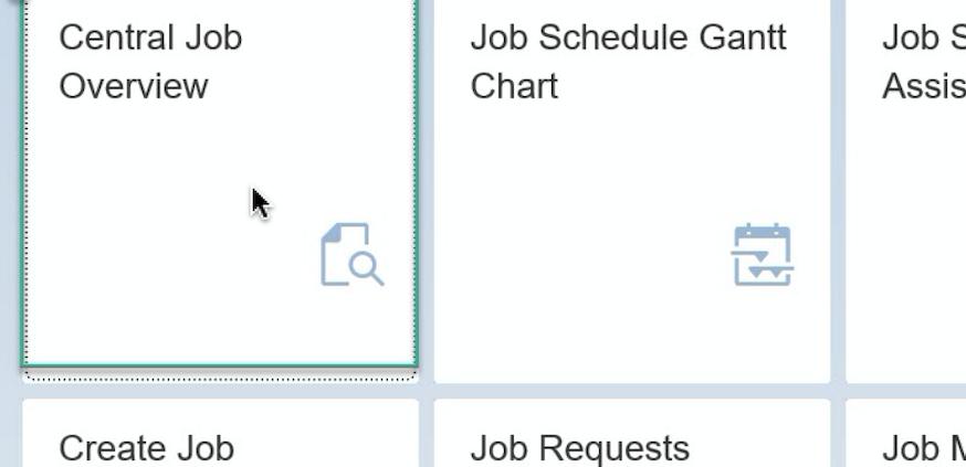 Beitragsbild SAP Zentrale Jobübersicht